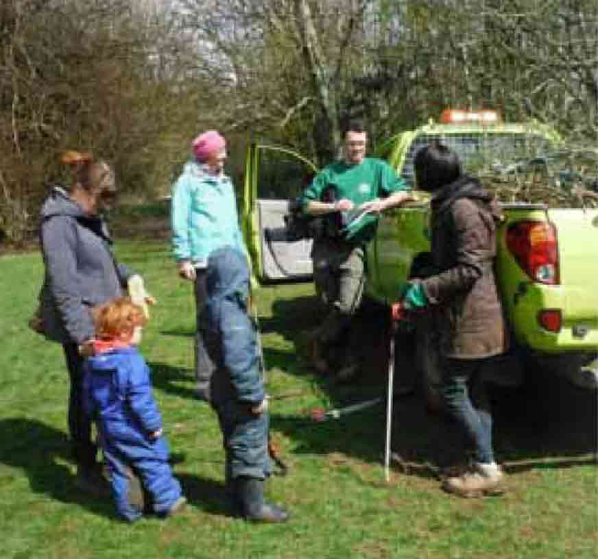 Park rangers working with the Friends of Three Cornered Copse